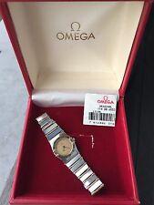 Omega Constellation Mini Full Bar 18k Gold Box Ladies Watch Running