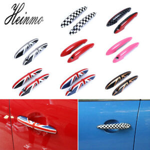 Union Jack UK Flag Door Handle Cover Cap For Mini Cooper ONE S Countryman R60