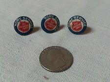Three Vintage Salvation Army Pinback Button Pins