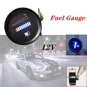 "2""52mm Blue Universal 10LED Fuel Level Meter Digital Gauge for Car Motorcycle"