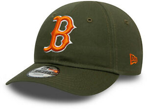 Boston Red Sox New Era Kids 940 League Essential Olive Baseball Cap (2-4 years)