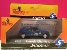 SOLIDO SUPERBE RENAULT CLIO 16S NEUF EN BOITE 1/43 H6