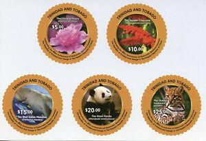 Trinidad & Tobago Animals Stamps 2019 MNH Dipl Relations Pandas Flowers 5v S/A