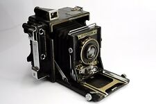 """Graflex Speed Graphic 3.5"""" x 4.5"""" Large Format Camera w/ Zeiss 13.5cm F4.5 AS-IS"""