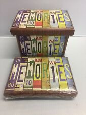 NEW MEMORIES SMALL STORAGE BOX WITH REMOVABLE DIVIDERS FLAT PACKED