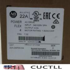 2020 NEW SEALED Allen Bradley 22A-D4P0N104 POWERFLEX 4 Catalog 22AD4P0N104 SER A