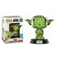 YODA Star Wars Green Chrome 2019 SDCC Exclusive Funko POP! #124 NEW