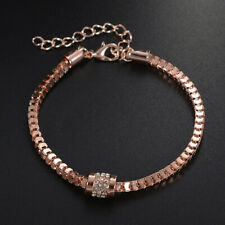 Women Fashion Rhinestones Snake Chain Charm Bracelets Jewelry Gift ONE