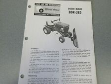 13 Old Wheel Horse Snow Blade Manuals (all different)