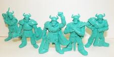 Plastic toy soldiers. Tehnolog. Knights. Turquoise color. 1/35 or 1/32