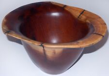 Hand Carved Wood Bowl by Arturo Solano Root Wood Signed Vintage Mid Century