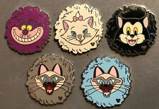 DISNEY WDW 2007 HIDDEN MICKEY SERIES 2 CATS MARIE SI & AM COMPLETE 5 PIN SET