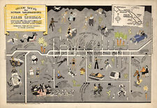 Early Map Frolic spots for Human Salamanders at Palm Springs California Poster