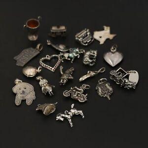 VTG Sterling Silver - Lot of 48 Assorted Hobbies Bracelet Charms NOT SCRAP - 20g