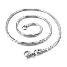 3.2mm Halskette Schlange Link Silber Motorradfahrer Biker 50cm HerrenK9 B6E F0G7