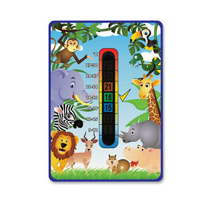 Baby/Child - 'Happy Family' Jungle Nursery Safety Room Thermometer