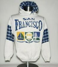 Vintage San Francisco Souvenir Hoodie Sweatshirt Golden Gate Wharf Cable Car M