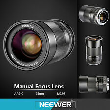 Neewer 25mm f/0.95 Manual Focus Prime Fixed Lens for SONY NEX3, 3N, 5, 5T, 5R