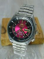 Orient SK Pink Crystal automatic 21 jewels  vintage Stainless Steel Japan watch
