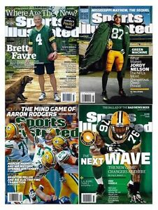 NEW Lot 4 Sports Illustrated Packers Aaron Rodgers Jordy Nelson Favre No Label