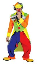 MENS CIRCUS CLOWN COSTUME XL RAINBOW TAILCOAT SUIT FANCY DRESS OUTFIT NEW 46-48