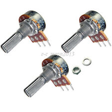 New 10 pcs 100K ohm Linear Taper Rotary Potentiometer Panel pot B100K 20mm 3-pin