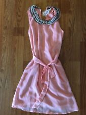 NWT Modcloth H&m Peach Pink Jewel Dress Small S Pin Up Girl