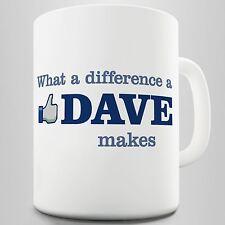 What A Difference A Dave Makes Mug Coffee Mug