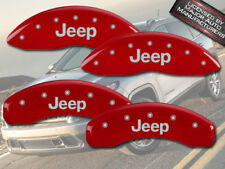 """2008-2012 """"Jeep"""" Liberty Front + Rear Red MGP Brake Disc Caliper Covers"""