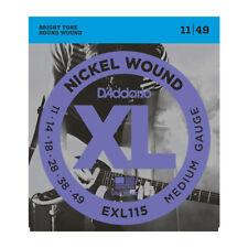 D'Addario Nickel Wound Medium EXL115 Electric Guitar Strings 11 - 49