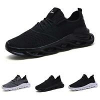 Mens Trainer Outdoor Sports Running Mesh Breathable Gym Fashion Sneakers Shoes B