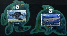 WWF Whale Turtle 2 mnh Souvenir Sheets 2019 Thailand Marine Life