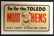 Toledo Mud Hens Lucas County Recreation Center Ohio Baseball Decal Sticker