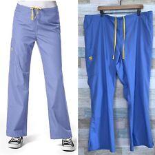 WonderWink Romeo Cargo Scrub Pants Ceil Blue 5026 Lot Of 3 Womens Plus Size 4X