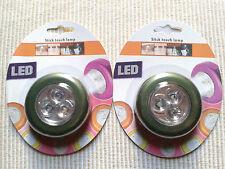2X Lampes à 3 Led Spot Adhésives Puissantes Autocollantes Neuves Sous Blisters