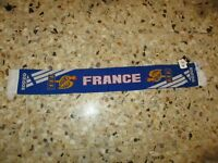echarpe scarf football ancienne EQUIPE DE FRANCE FFF ADIDAS SUPPORTERS 90's