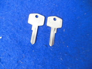 NOS FS UK made Key Blanks (2) Jaguar Healey MG Triumph Rover Morris Mini etc