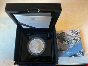 2021 Royal Mint Silver Proof Two Ounce  2oz Britannia