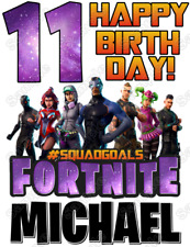 Fortnite  Birthday  Personalized T Shirt Iron on Transfer #2