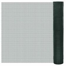 Chicken Wire Fence Galvanised With PVC Coating 10x1m Green Coop Mesh EB