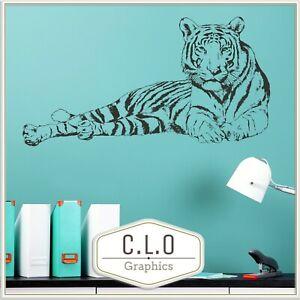 Tiger Vinyl Wall Sticker Transfer Decal Art Big Cat Decor Wild Animal Graphic UK