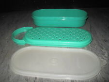 TUPPERWARE #1375 & 1374 Jadeite GREEN Cheese SHREDDER Grater 2 CUP Bowl w/LID
