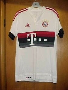 NEW Men's FC Bayern Munchen #18, 2013-14, White Away Soccer Jersey, Size S Small