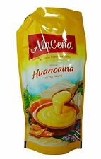 Alacena Crema Huancaina Sauce 400 Grams Yellow Hot Chilli Cheese Sauce