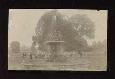 Somerset TAUNTON Park Fountain & locals 1907 RP PPC Abraham Series