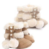 Baby Toddler Infant Girls Snow Boots Soft Sole Prewalker Crib Shoes(0~6 Mo J3Y5