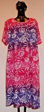NWT La Cera  Pink Lilac Cotton Floral Pockets Bohemian Gypsy Dress Plus 1X