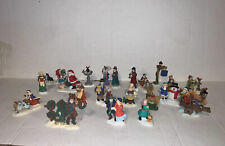 Assorted Christmas Village Porcelain Figures Lot