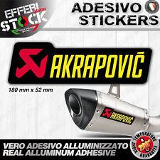 Adesivo Adesivi Sticker Pegatina AKRAPOVIC HONDA SUZUKI KTM EXAUST 18cm  200° G