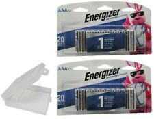 24 AAA Energizer Ultimate Lithium Batteries Longest Lasting Extreme With Holder